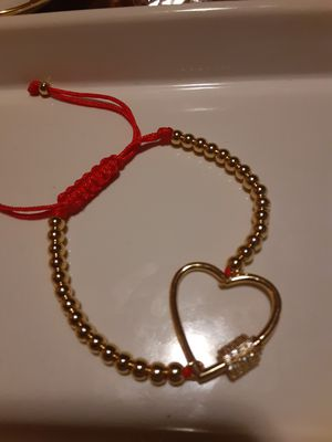 Beautiful hadmade bracelet whit heart stainlees steel for Sale in San Leandro, CA