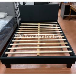 Queen Black Fabric Bed Frame for Sale in San Diego,  CA