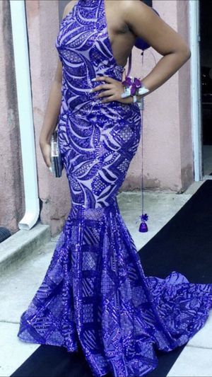 Custom Purple Sequin Prom Dress for Sale in Baltimore, MD