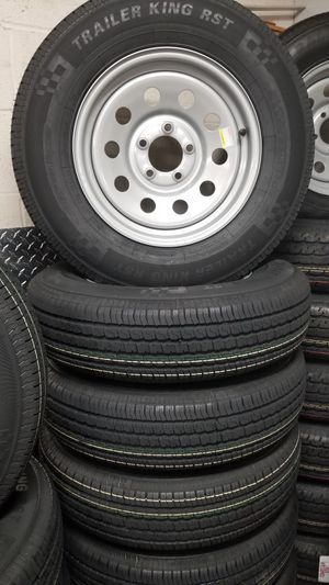 NEW ST205/75R15 8PLY HEAVY DUTY TRAILER TIRES/WHEELS ONLY $85+ TAX EACH for Sale in Douglasville, GA