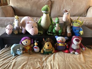Toy Story 3 stuffed animal collection for Sale in Coral Springs, FL