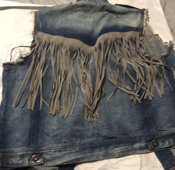 Vintage Havana Distressed Fringe Vest