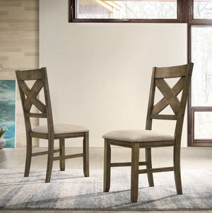 Roundhill Raven Wood Fabric Upholstered Dining Chair Set of 2 for Sale in Elk Grove, CA
