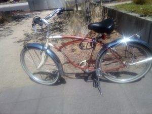 (verified) 1957 Schwinn cruiser six bicycle for Sale in Portland, OR