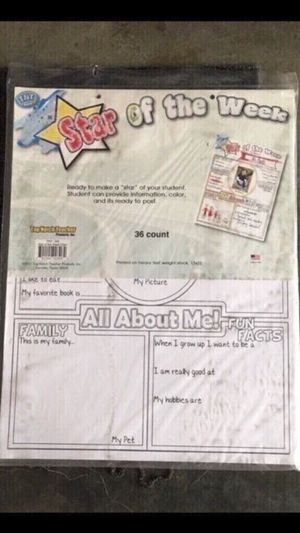 New Elementary 36 count posters / all about me for Sale in Smyrna, TN