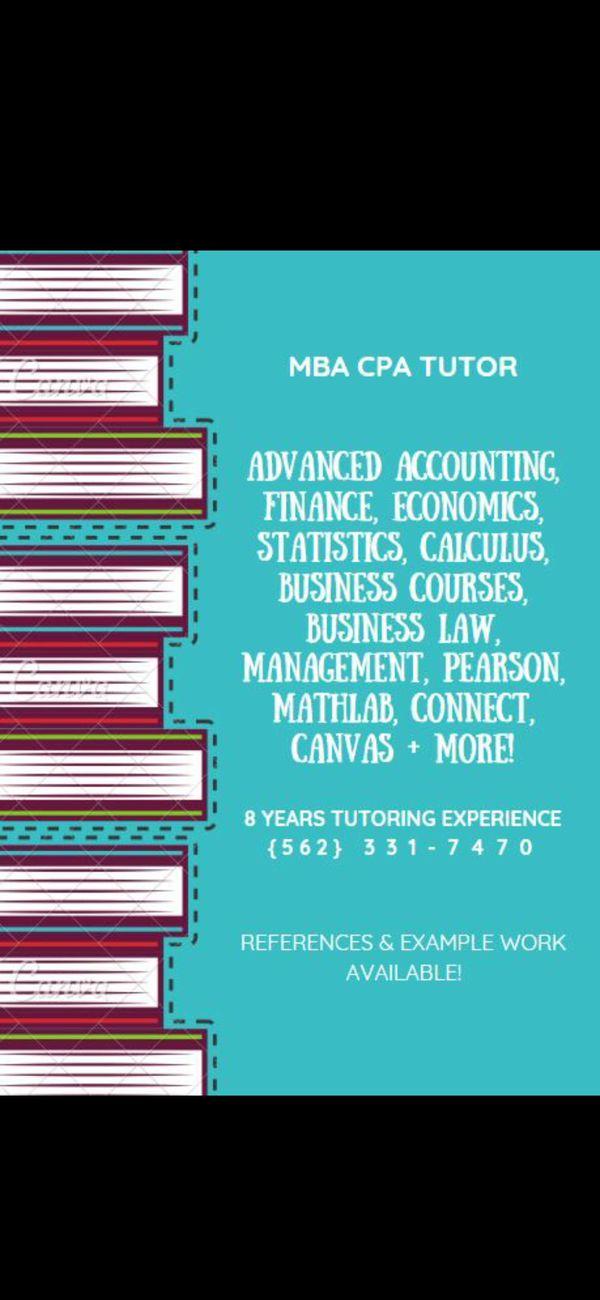 Statistics Accounting Math Tutor