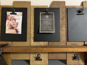 "New Three panel rustic chalkboard with clips & ledge 25""x 15"" for Sale in Pembroke Pines, FL"