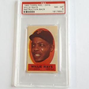 Willie Mays 1963 Topps Peel-Offs Baseball Card PSA8 for Sale in Marietta, GA