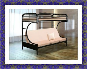 Twin futon bunkbed frame free delivery for Sale in Gambrills, MD