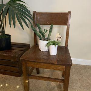 Vintage Child's Oak Chair for Sale in Berwyn, IL