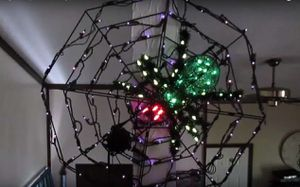 "Halloween Animated & Lighted Spider Actually ""Crawls"" on Web for Sale in Mesa, AZ"