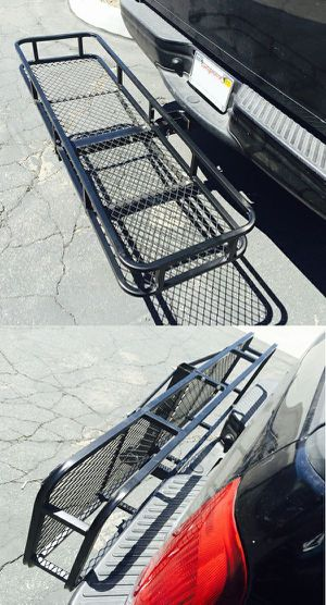 Brand new 500 lbs rear hitch mount cargo basket truck van car camper camping business commercial storage rack pro for Sale in South El Monte, CA