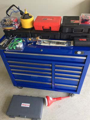 Tool Box with snap-on &Blue Point tools for Sale in Webberville, TX