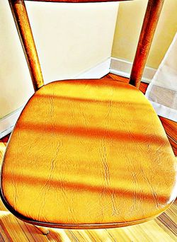 Wooden Shelby Williams Industries MCM chairs (4) with leather seat cushion. for Sale in Fork Union,  VA