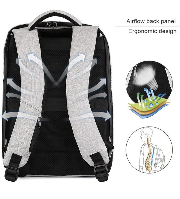 Waterproof Travel 15.6 Inches Backpack USB Charging Port ,Business Laptop Backpack