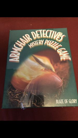 Reduced price New in box armchair detectives mystery puzzle game. Blaze of glory. for Sale in Mechanicsburg, PA