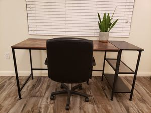 Modern Home Office 63-inch Computer Desk + Office Chair Bundle for Sale in Las Vegas, NV