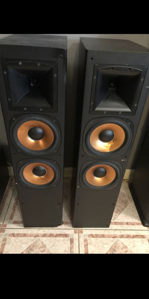 "Klipsch 38"" tower speakers for Sale in Newark, NJ"