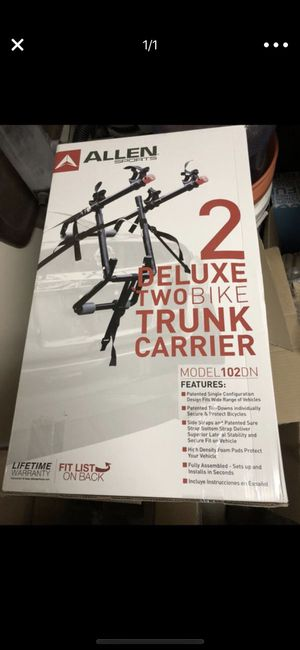 Allen 2 deluxe bike trunk carrier - new in box for Sale in Houston, TX