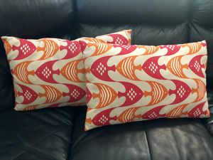 Set of 2 Tropical beach fish patio furniture pillows for Sale in Winter Haven, FL