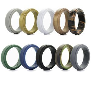 Silicone Wedding Ring for Men - 10 Pack - The Ultimate Silicone Wedding Band Rubber Wedding Ring Set for Sale in McCalla, AL