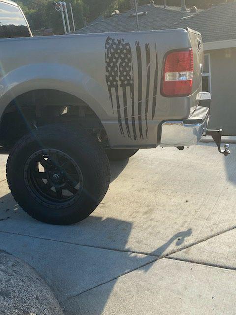 American flag truck or car decal sticker