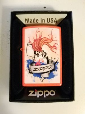 Zippo logo splash neon orange 29605 for Sale in Los Angeles, CA