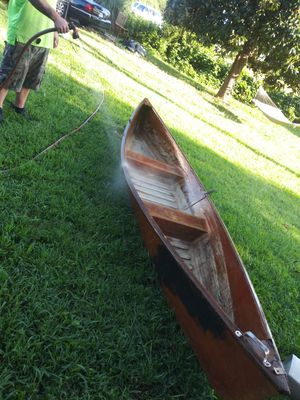Wooden canoe for Sale in McDonough, GA
