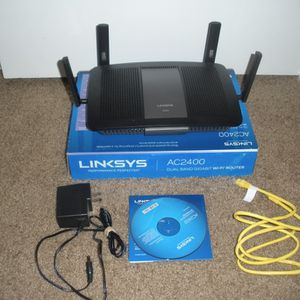 Linksys Router AC2400 Gaming Dual Band Gigibit WiFi E840p for Sale in Bend, OR
