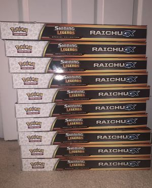Lot of 10 Pokemon Shining Legends Raichu GX Boxes FACTORY SEALED for Sale in Fremont, CA