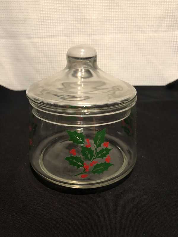 Indiana Glass Vintage Christmas Candy Dish