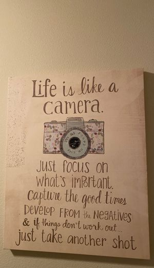 Quote art - Life is like a camera... for Sale in OR, US