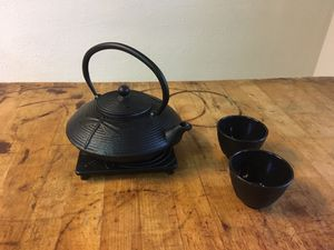 Iron Tea Set with a Dragonfly Theme for Sale in Plano, TX