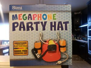 Megaphone party hat for Sale in Yorkville, IL