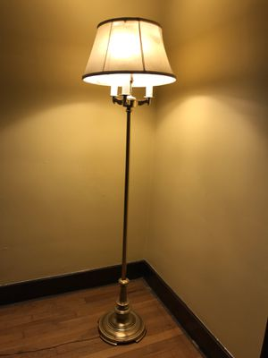Brass Finish Floor Lamp with Various Light Settings, pick up only Greensburg for Sale in Greensburg, PA