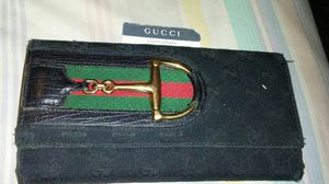 Authentic gucci GG logo horse bit signature wallet black for Sale in St. Louis, MO