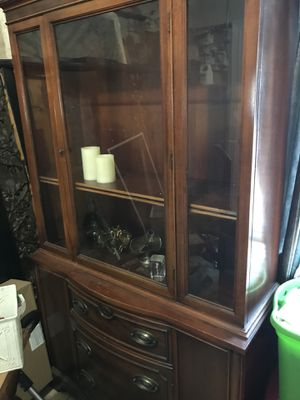 Antique china cabinet (table sold separately) for Sale in Santa Ana, CA