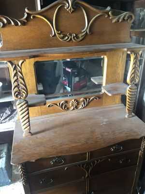 Antique Dresser with Mirror for Sale in Fullerton, CA