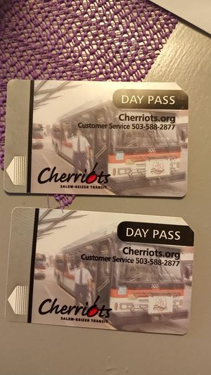 Cherriots day passes for Sale in Keizer, OR