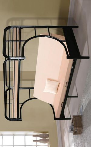 BEST Price 👑 Brand NEW Erica Black Metal Twin/Futon Bunk Bed | 4480 for Sale in Jessup, MD