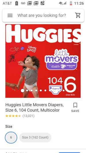 Huggies movers size 6 x 4 boxes for Sale in Mountlake Terrace, WA