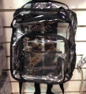 Clear and black backpack for Sale in Las Vegas, NV