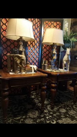 Large End tables heavy wood for Sale in Orlando, FL