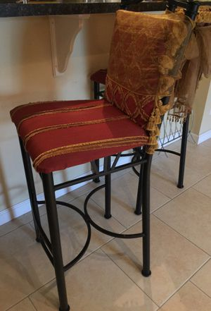 Bar stools. Have matching pillows for Sale in Dania Beach, FL