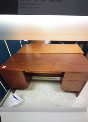 Brown office desk for Sale in Sunbury, PA