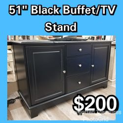 "NEW 51"" Black Buffet TV Stand Cabinet High Boy: njft livingrm TV stands for Sale in Burlington,  NJ"