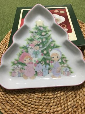 Precious Moments holiday candy dish for Sale in Sarasota, FL