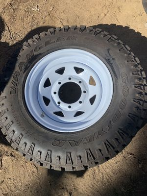 New 8 lug trailer wheel with Goodyear tire for Sale in Aurora, CO
