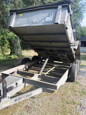 2013 7x12 Felling Galvanized Hydraulic Dump Trailer for Sale in Cleveland, OH