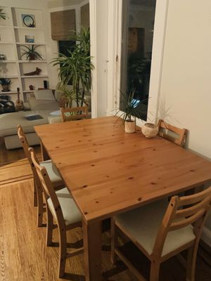 Dining room table + 6 matching chairs for Sale in San Francisco, CA